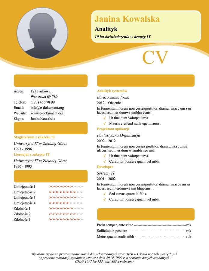 CV artystyczne 6