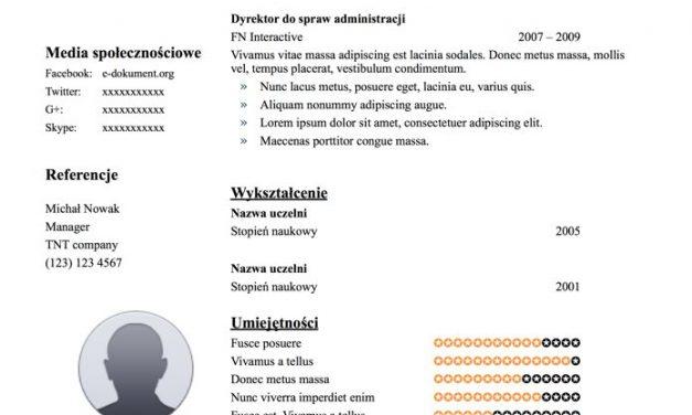CV chronologiczne – Szablon 3