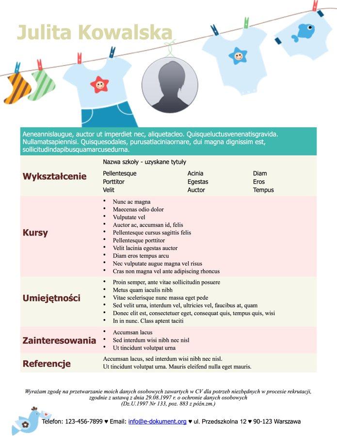 Darmowe Wzory Cv Do Pobrania I Drukowania Za Darmo Pliki Doc I Pdf
