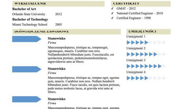 CV designerskie – Szablon 3