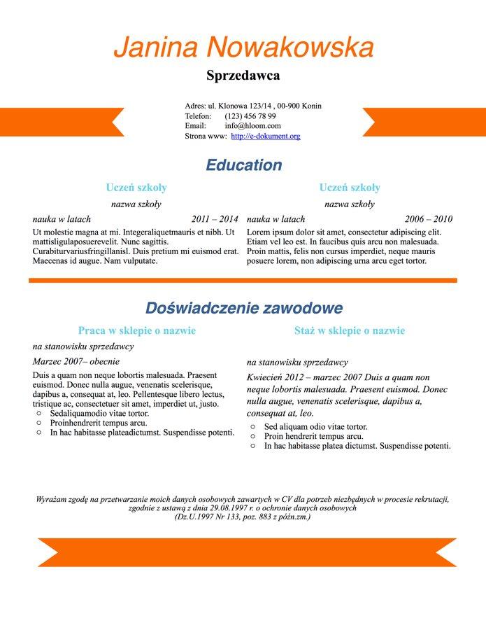 designerskie CV