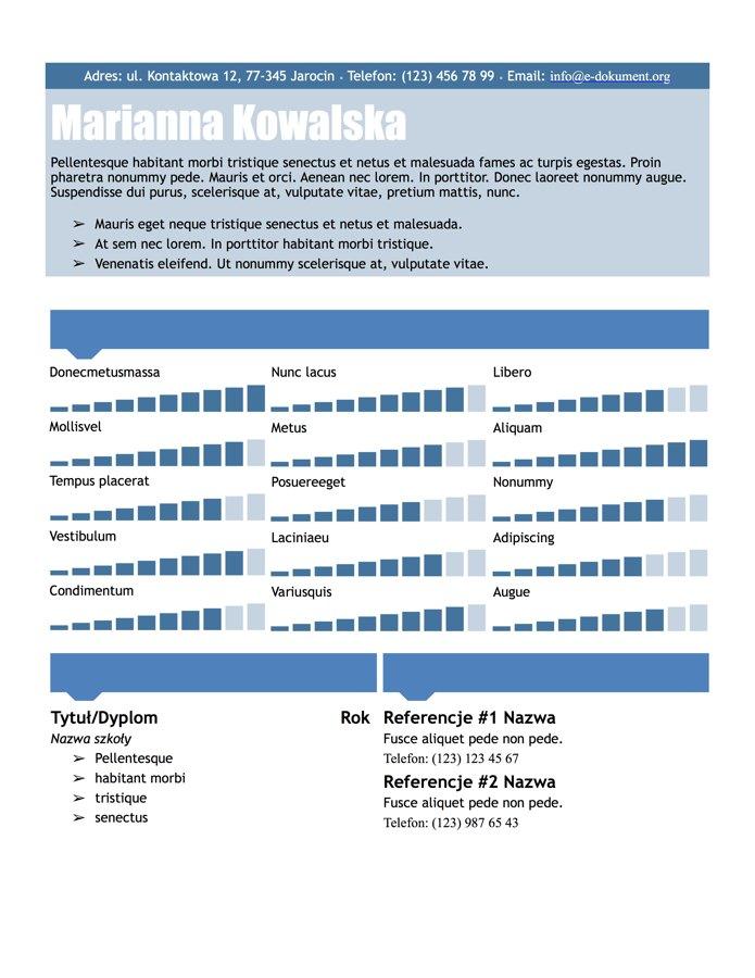 CV graficzne do druku