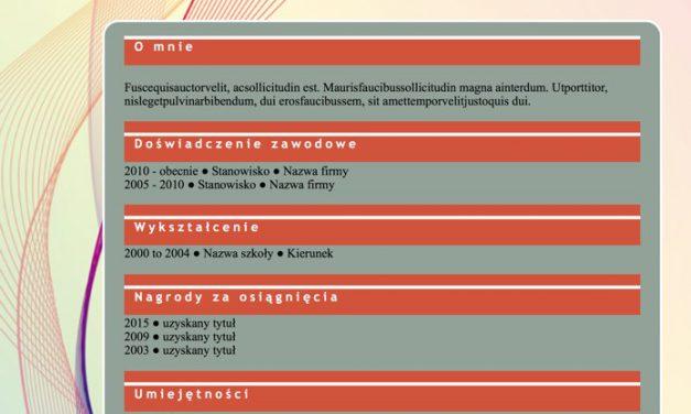 CV graficzne – Szablon 5