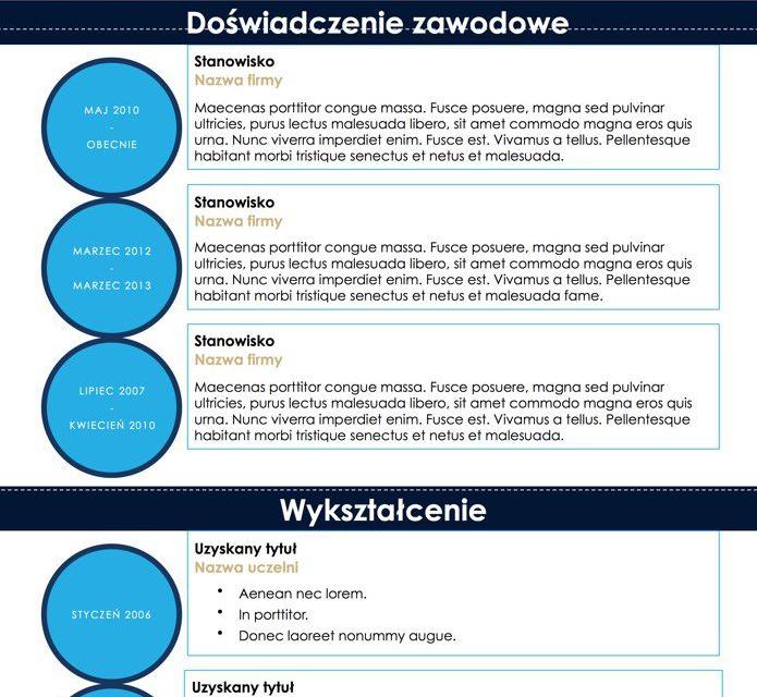 CV nowoczesne – Szablon 5
